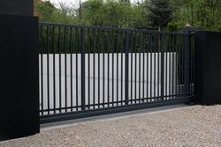black modern gate