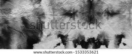 Black Modern Paintbrush Texture. Watercolor Black White pattern. Abstract bright backdrop. Vintage Backdrop. Ikat tribal Print. Tie dye pattern. Ragged lines.