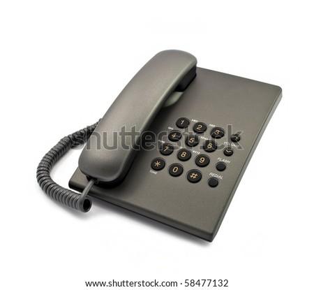 Black modern telephone