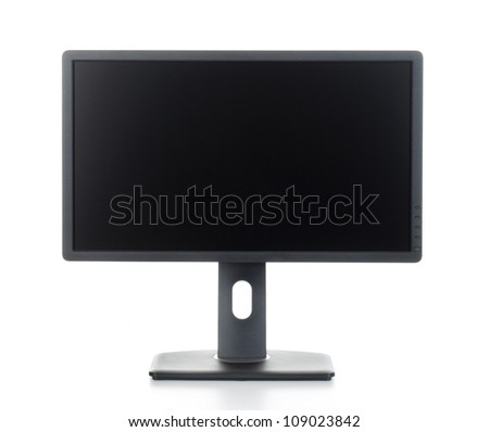 black monitor isolated on white