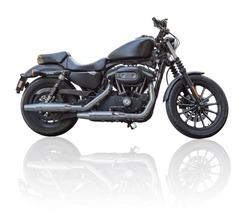 Black motorbike isolated