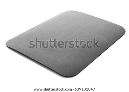 Black mouse pad on white background #639131047