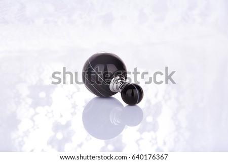 Black natural crystal vase crystal background #640176367