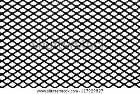 black net on a white background