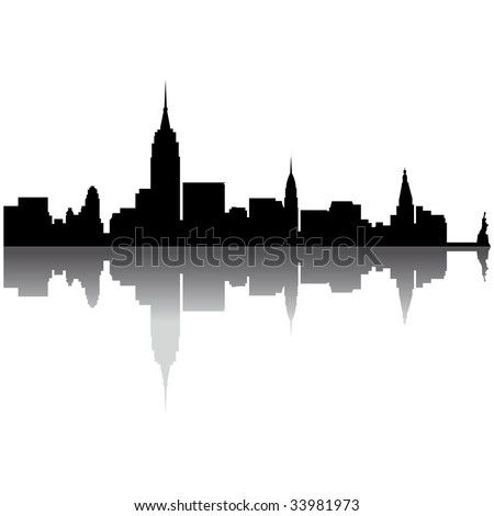 Black New York silhouette skyline