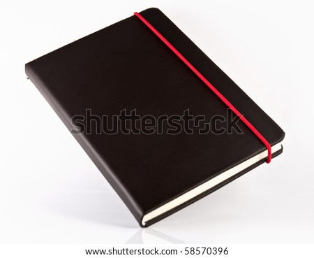 black note book on white isolate,good used for web or background
