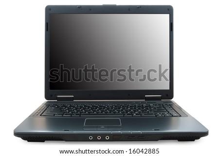 Black notebook (laptop).
