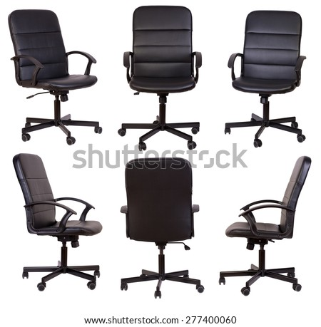 Black office chair isolated on white background #277400060