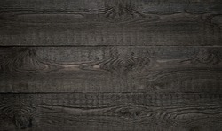 Black old wood striped texture or background