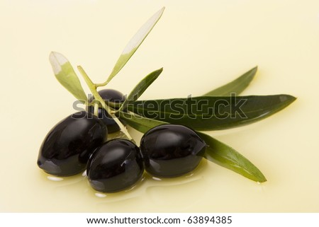 Black olive in olive oil