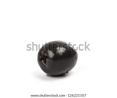 black olives on a white background