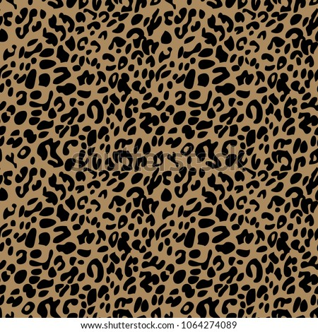 Black on brown leopard print seamless repeat pattern background