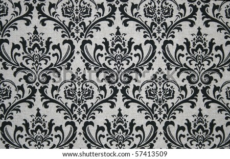 Black on grey seamless damask pattern. Nice to use as background.