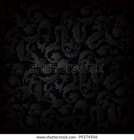 Black ornamented background, rasterized version.