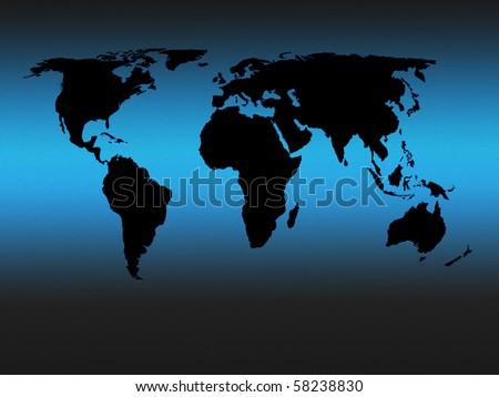 world map outline black. Black outline world map