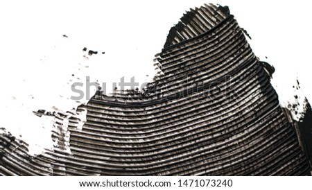 black paint brush on white wall as contrasty texture background #1471073240