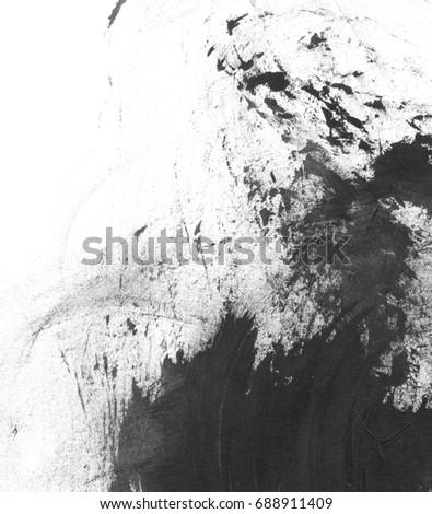 Black paint brush strokes #688911409