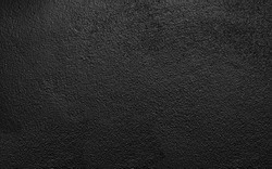Black painted rough concrete wall texture background wall