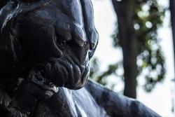 black panther roar sculpture texture backgrownd
