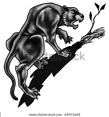 stock photo : Black Panther Tattoo