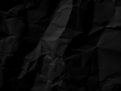 Black paper pattern abstract texture background. Dark backdrop. use design for product display or montage, advertising, food, beverages, technology, business, scary, horror, halloween. Top view
