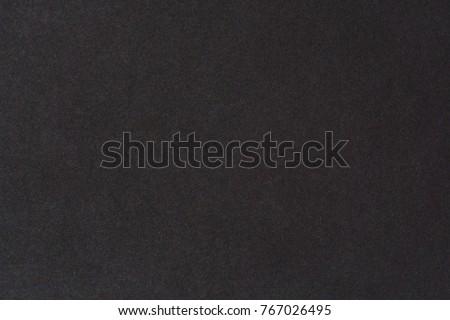 Black paper texture background. Black blank cotton paper page