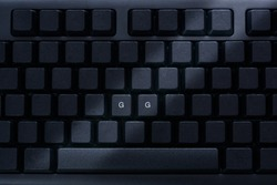 Black pc keyboard with letters