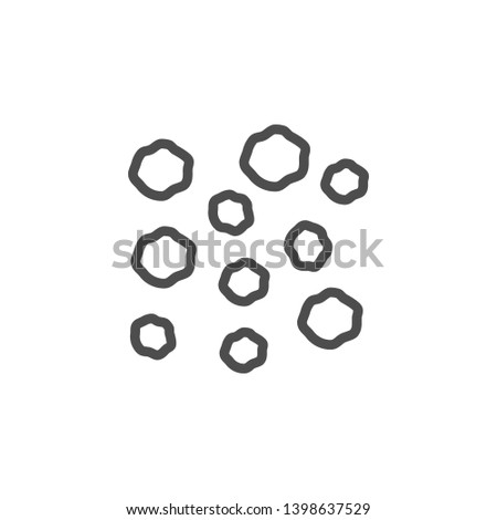 Black pepper line icon isolated on white