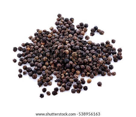 Shutterstock Black peppercorn isolated on white background