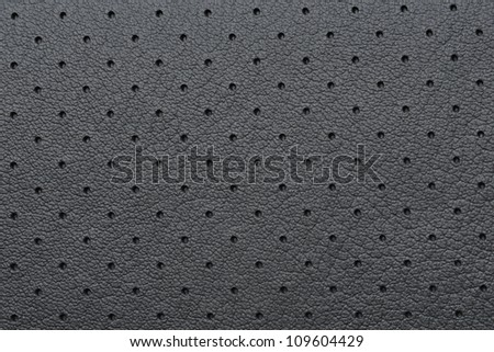 Black Perforated Leather or Skin Texture as Wallpaper or Background