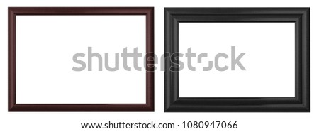 Black  picture frame isolated on a white background.