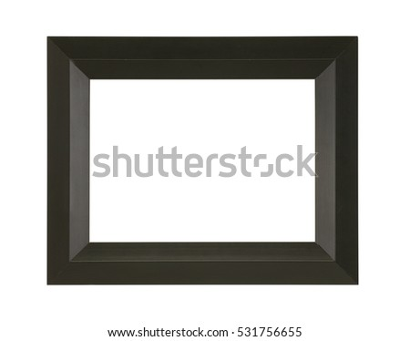 BLACK PICTURE FRAME ON WHITE BACKGROUND #531756655