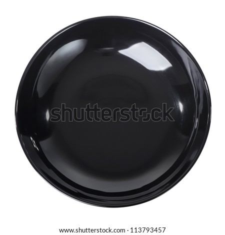 Black plate isolated