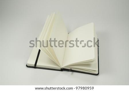 black pocketbook - stock photo