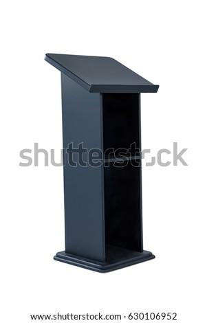 Black podium isolated on white background #630106952