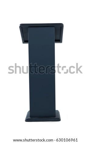 Black podium isolated on white background #630106961