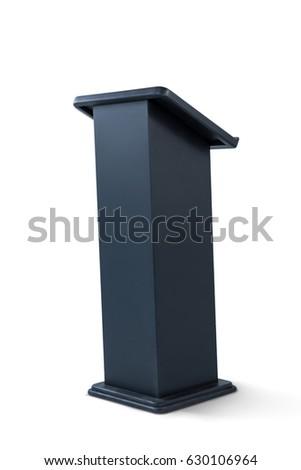 Black podium isolated on white background #630106964