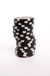 Black poker ships isolated on a white background.