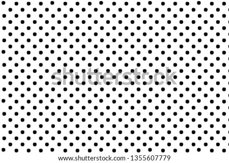 Black polka dots on white background, creative abstract background for print and design.