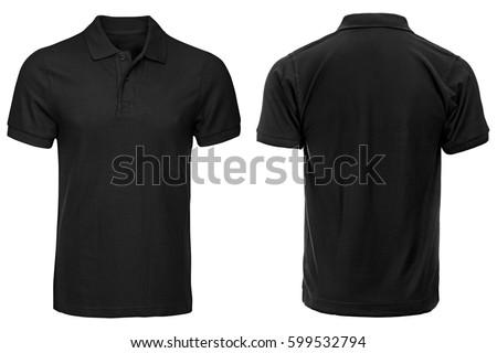black polo shirt  clothes on...