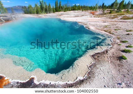 Black Pool of the West Thumb Geyser Basin in Yellowstone National Park