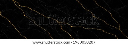 black Portoro marble with golden veins. Black golden natural texture of marbl. abstract black, white, gold and yellow marbel. hi gloss texture of marble stone for digital wall tiles design.