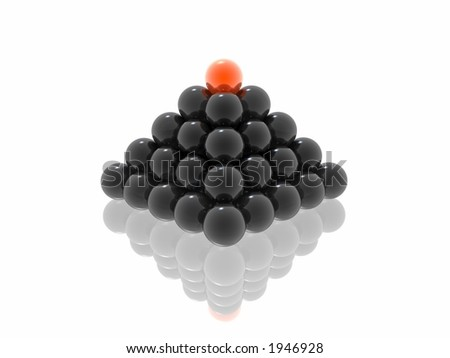 black pyramid with red ball (see more in my portfolio)