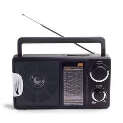 black radio isolated