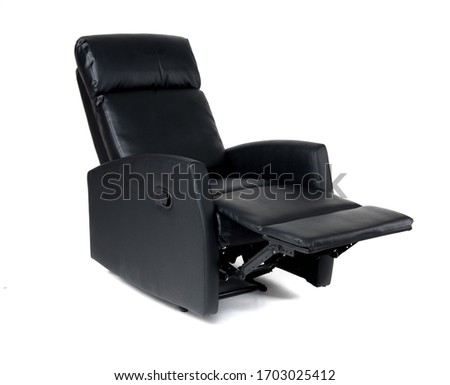 Black reclining chair isolated on white background ストックフォト ©