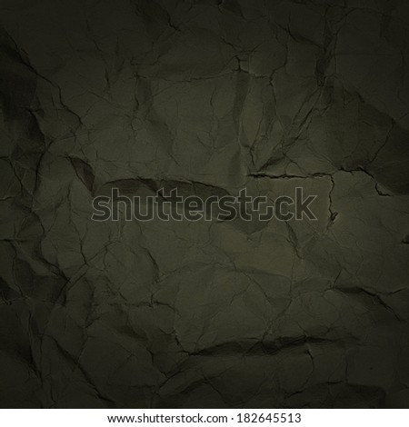 Black Recycled paper texture closeup background. Crumpled  paper texture background.