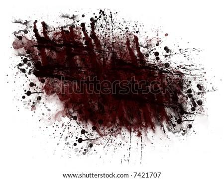 blood splatter black background. stock photo : Black Red Blood