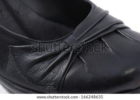 Black rigorous high heels for formal events. Shoes on a white background.