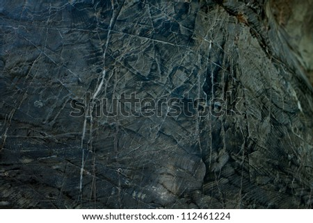 Black rock background, Stone with exquisite detail. - stock photo