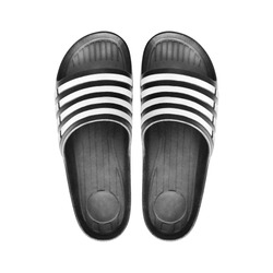 black rubber sandal isolated on white background